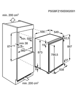AEG ABE888E1LF inbouw koelkast