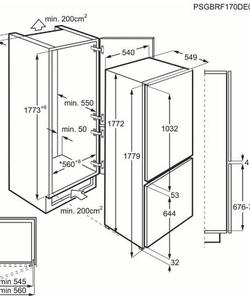 AEG SCB618E6TS inbouw koelkast