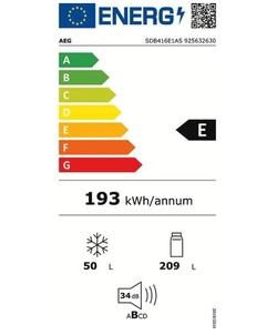 AEG SDB416E1AS inbouw koelkast