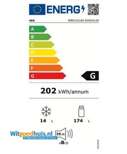 AEG SFB51221AS inbouw koelkast