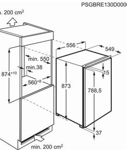 AEG SFB688F1AF inbouw koelkast
