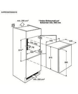 AEG SFB688F1AS inbouw koelkast
