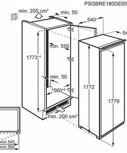 AEG SFE818F1DS inbouw koelkast