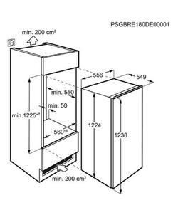 AEG SKE812F1AF inbouw koelkast