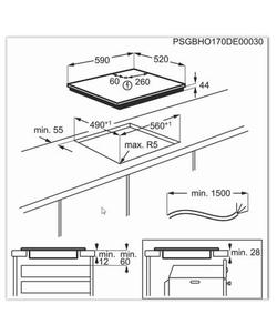 AEG IAR64413FB inbouw kookplaat