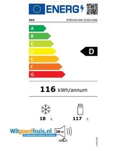 AEG RTB91431AW koelkast