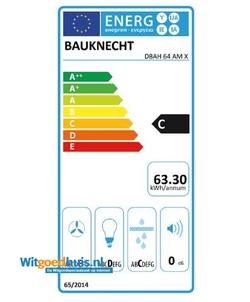 Bauknecht DBAH 64 AM X afzuigkap