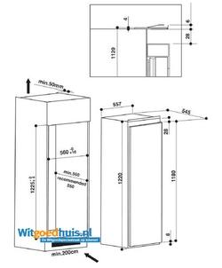 Bauknecht KVIE 2128 A++ inbouw koelkast