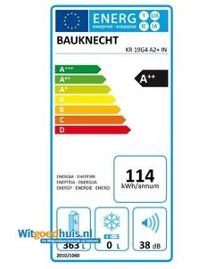 Bauknecht KR 19G4 A2+ IN koelkast