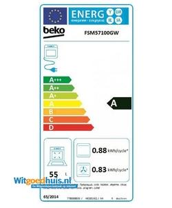 Beko FSM57100GW fornuis