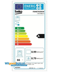 Beko FSM67010GW fornuis