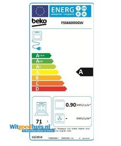 Beko FSS 66000GW fornuis