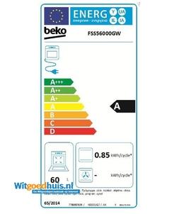 Beko FSS56000GW fornuis