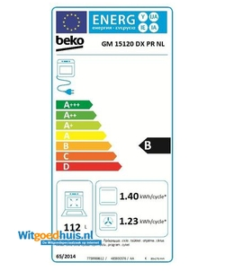 Beko GM15120DXPR NL fornuis