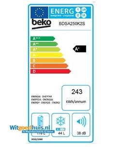 Beko BDSA250K2S inbouw koelkast