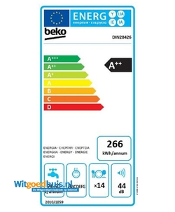 Beko DIN28426 inbouw vaatwasser