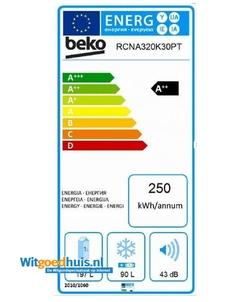 Beko RCNA320K30PT koel / vriescombinatie