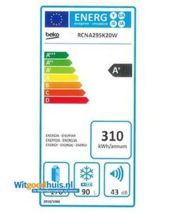 Beko RCNA295K20W koel / vriescombinatie