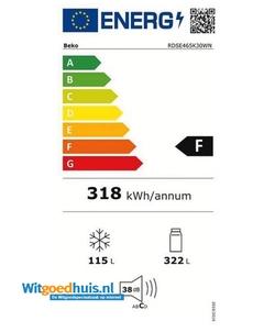 Beko RDSE 465K30W koel / vriescombinatie