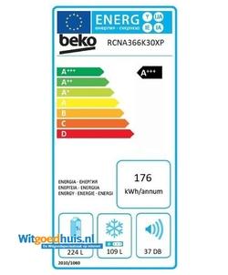 Beko RCNA366K30XP koelkast