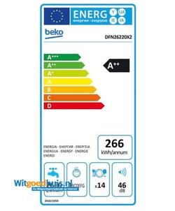 Beko DFN26220X2 vaatwasser