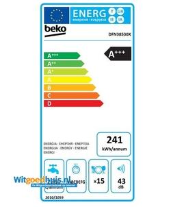 Beko DFN38530X vaatwasser