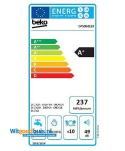 Beko DFS05013X vaatwasser
