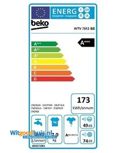 Beko WTV7812BS wasmachine