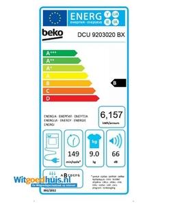 Beko DCU 9203020 BX wasdroger