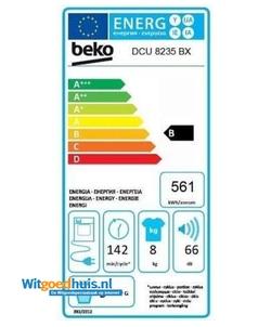 Beko DCU8235BX wasdroger