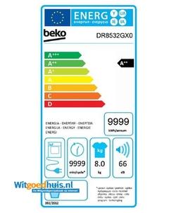 Beko DR8532GX0 wasdroger