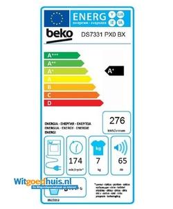 Beko DS7331PX0BX wasdroger