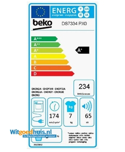 Beko DS7334PX0 wasdroger