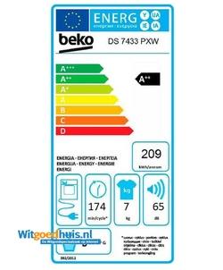 Beko DS7433PXW wasdroger