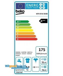 Beko WTV8744XDOS wasmachine