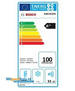 Bosch KIR31ED30 Serie 6 Exclusiv inbouw koelkast