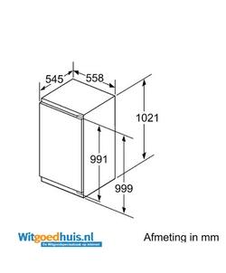 Bosch KIR31EDD0 inbouw koelkast