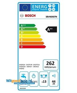 Bosch SBV46IX07N Serie 4 Exclusiv inbouw vaatwasser