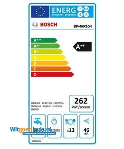 Bosch SBV46IX10N Serie 4 Exclusiv inbouw vaatwasser