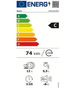 Bosch SMV6ZBX00N inbouw vaatwasser