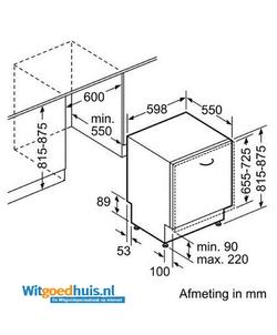 Bosch SMV86M50EU Serie 6 Exclusiv inbouw vaatwasser