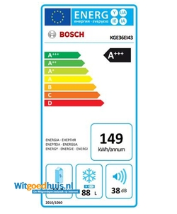 Bosch KGE36EI4P Serie 6 Exclusiv koel / vriescombinatie