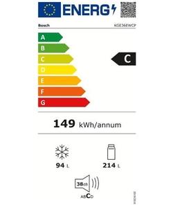 Bosch KGE36EWCP koel / vriescombinatie