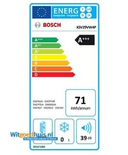 Bosch KSV29VW4P Serie 4 koelkast