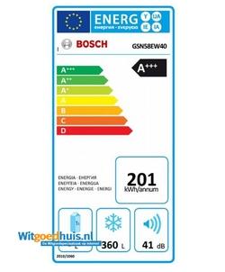Bosch GSN58EW40 Serie 6 Exclusiv vrieskast