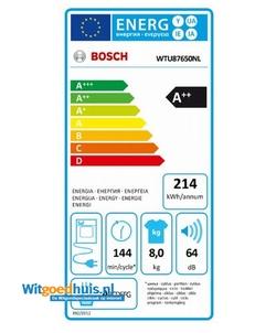 Bosch WTU87650NL wasdroger