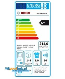Bosch WTU87691NL Serie 6 Exclusiv wasdroger