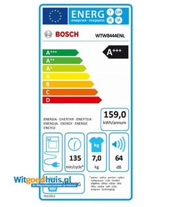 Bosch WTW8444ENL wasdroger