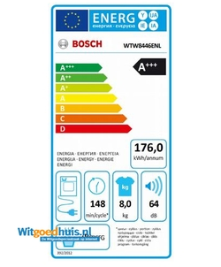 Bosch WTW8446ENL Serie 6 wasdroger