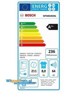 Bosch WTW85492NL Serie 6 Exclusiv wasdroger